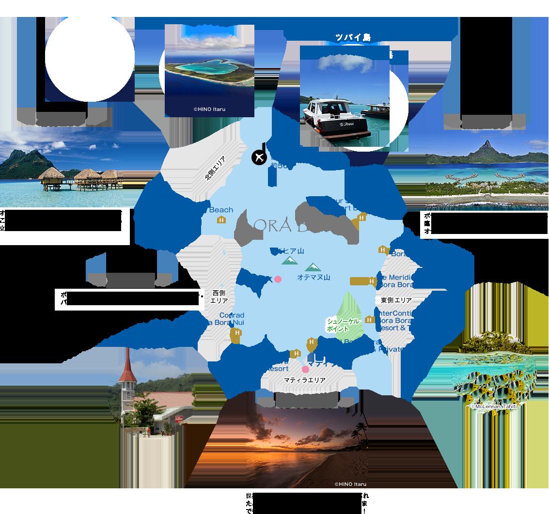 ボラボラ島地図画像