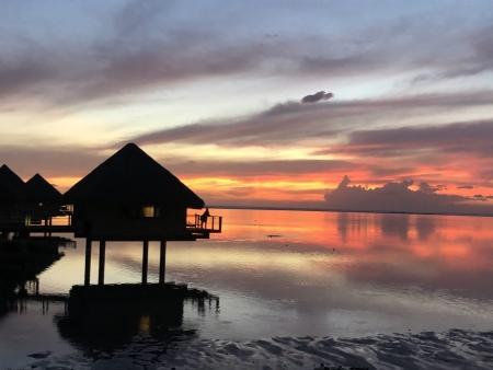 タヒチ島の絶景サンセットスポット