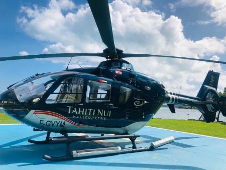 ボラボラ島でハートの島 ツパイ島ヘリコプター遊覧